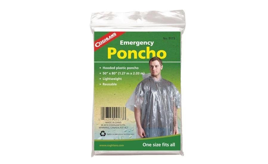 A rain poncho is required for additional warmth and wet protection. It is lightweight and easy to put on / take off when the weather changes.